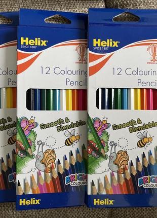 Цветные карандаши helix 12 штук bic marco