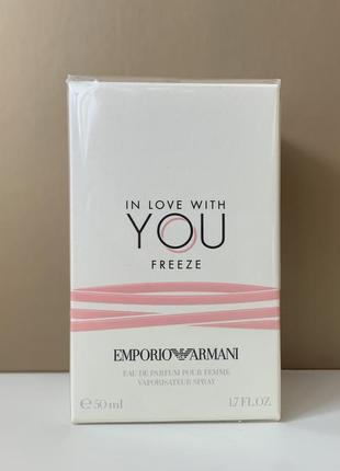 Giorgio armani in love with you freeze eau de parfum 50 мл