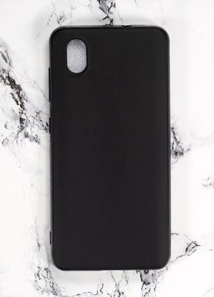 Силиконовый чехол бампер для zte blade a3 2020  черный