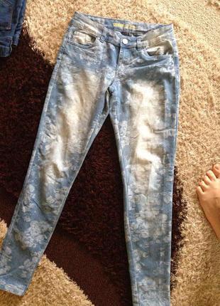 Супер джинсы скини принт