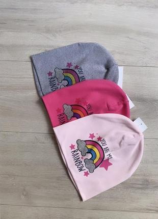 Красивая 🥰🤩🤩шапочка,шапка из трикотажа 2-5  лет