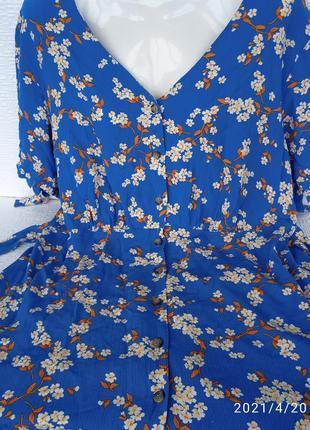Платье летнее 50-52 размер вискоза новое