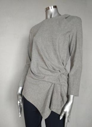 Zara теплая блузка, кофточка, офисная, возможно для беременных