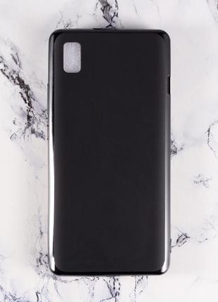 Силиконовый чехол бампер для zte blade l210 черный