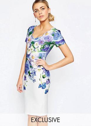 Платье-футляр с цветочным принтом и рельефной отделкой hope and ivy