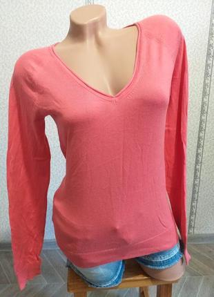 Хлопковый , легкий пуловер.(5348)