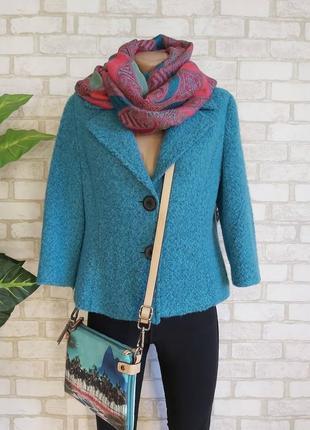 Фирменный cabi пиджак/жакет/полупальто на 37 % шерсть в цвете бирюза, размер с-м