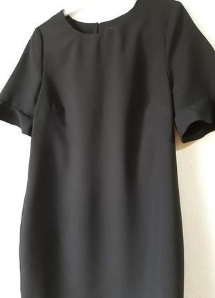 Стильное короткое платье с красивым рукавчиком, маленькое черное платье2 фото