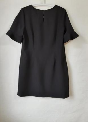 Стильное короткое платье с красивым рукавчиком, маленькое черное платье3 фото