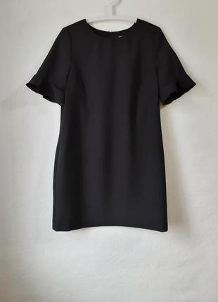 Стильное короткое платье с красивым рукавчиком, маленькое черное платье1 фото