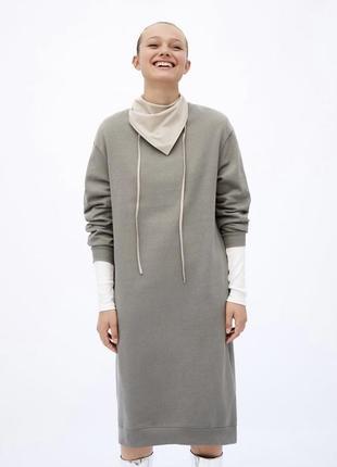 Платье zara oversize двунитка