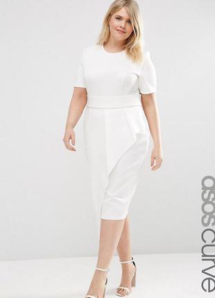 Платье-футляр длиной миди на поясе аsos curve