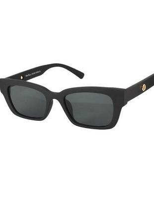 Солнцезащитные очки прямоугольные rich person в черной матовой оправе