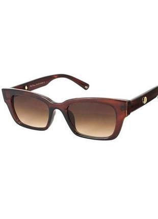 Солнцезащитные очки прямоугольные rich person в коричневой оправе