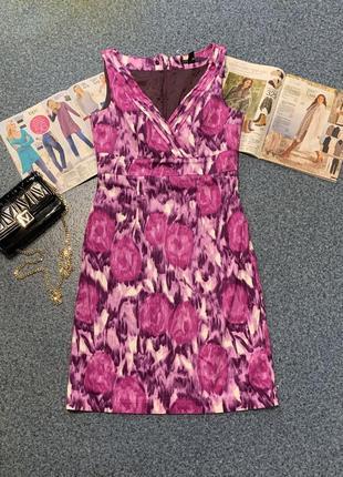Красивое нарядное платье миди цветочный принт сарафан