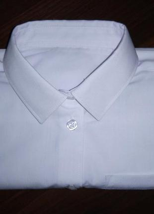 Новая белая рубашка на 12-13 лет