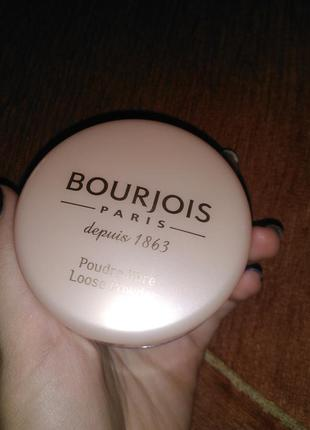 Рассыпчатая пудра bourjois poudre libre loose powder