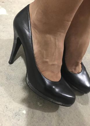 Шикарные туфли лодочки на высоком каблуке nine west 7/5 ст 25см!