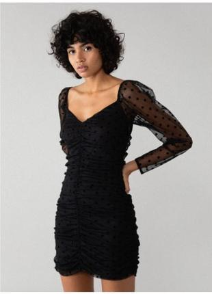 Платье с драпировкой  lefties xs-s