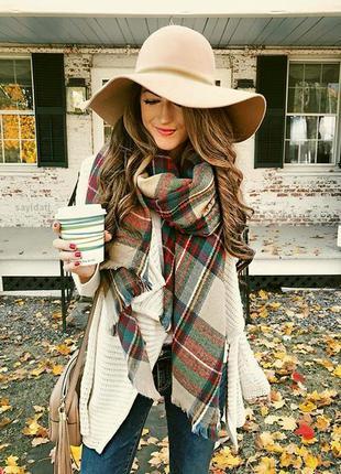 Осень! широкополая фетровая шляпа. шляпа шерстяная демисезон