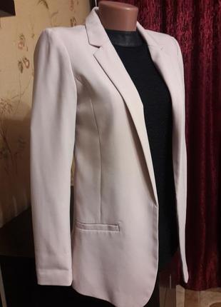 Стильный пудровый пиджак4 фото