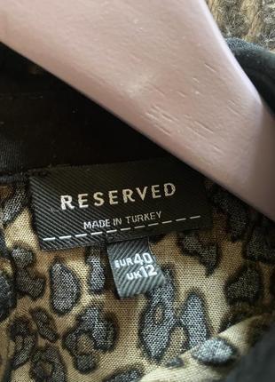 Леопардовое свободное платье reserved размера 40{l}