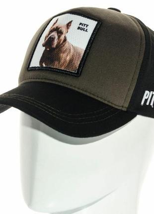 Бейсболка кепка с вышивкой pitbull питбуль разные цвета унисекс