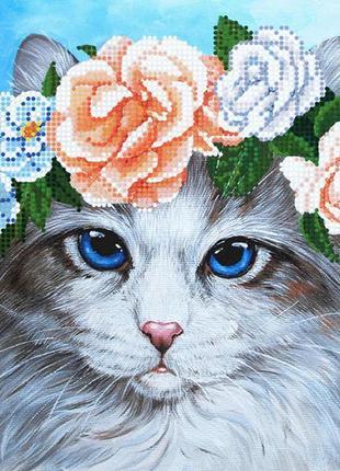 Схема для вышивки бисером кот 🐈