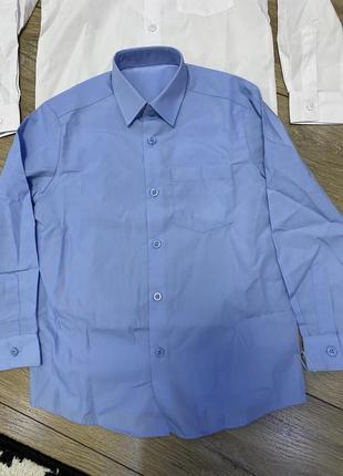 Рубашка george 6/7лет новая 1шт голубая