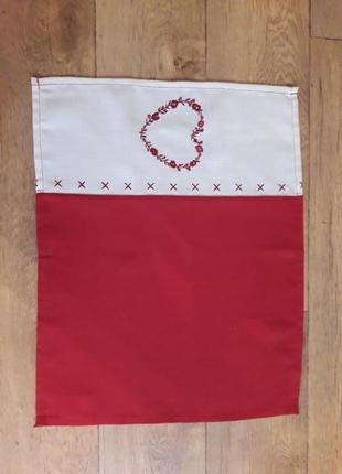 Салфетка сердце вышивка