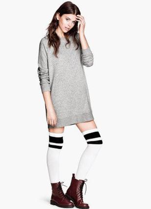 Крутейшее теплое платье-свитшот h&m