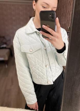 Жакет, курточка мятного цвета bershka