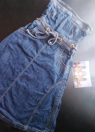 Xanaka, сарафан джинсовый