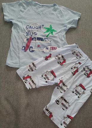 Стильный костюм футболка+шорты на мальчика 2-4года