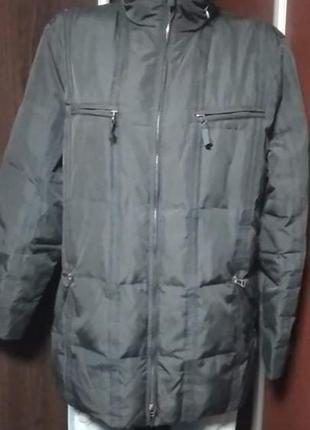 Куртка пуховик на пуху лёгкая теплая зимняя l, xl gerry weber