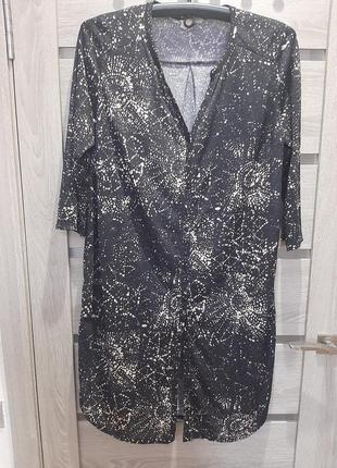 Стильное платье-халат большого размера