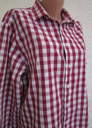 Рубашка в клетку. 100% хлопок.1+1= 50% скидки на 3ю вещь.