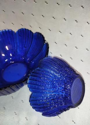 Винтаж 80-90гг,посула синяя, набор, конфетница