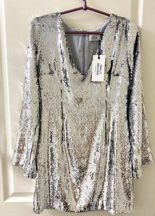 Шикарное платье в паетках na-kd5 фото