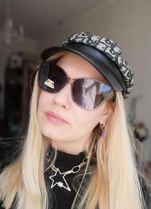 Брендовые солнцезащитные женские очки с с линзой хамелион