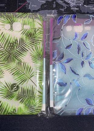 Чехол силиконовый дизайнерский для samsung j7 тропический и витраж