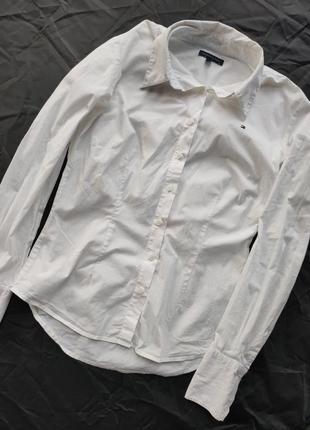 Белая рубашка tommy hilfiger xs s