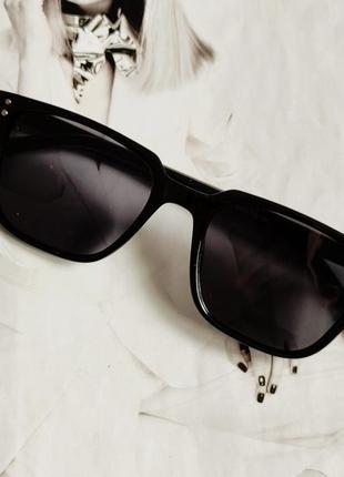 Солнцезащитные очки прямоугольные чёрный