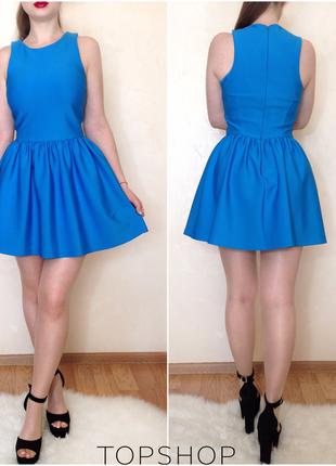 Шикарное яркое нарядное платье от бренда topshop размер s