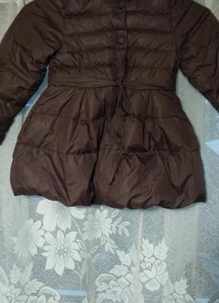 Коричневое пальто на девочку 3-4лет