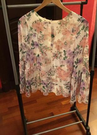 Massimo dutti шифоновая блуза