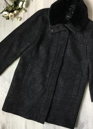 Фирменное тонкое пальто massimo dutti, размер м