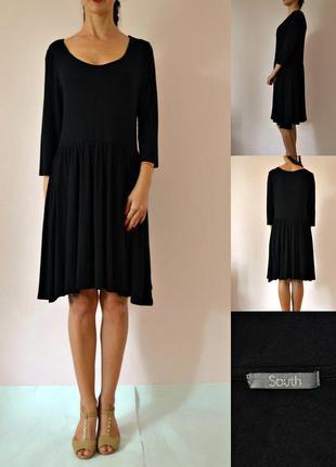 Базовое трикотажное платье с длинным рукавом
