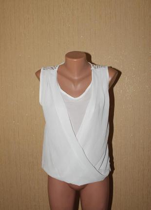 Шифоновая блуза с эффектом запаха