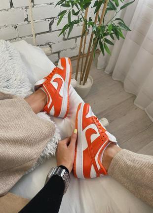 "Женские кроссовки nike dunk low ""ripe orange"".3 фото"